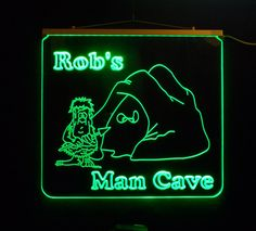 """15.25"""" x 14"""" Personalized Custom LED, #Mancave  Sign, #BarSign - Unique LED Products"""
