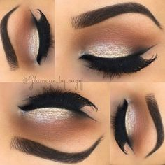 """⚡Suzy - All Things GLAM⚡ on Instagram: """"✨ Here are the makeup deets... ❤ liked on Polyvore featuring beauty products, makeup, eye makeup, eyeshadow, eyes, beauty, eye shadow and palette eyeshadow"""