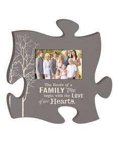 'Family Tree' Puzzle Piece Frame