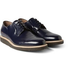 Crepe-sole leather derby shoes by Common Projects