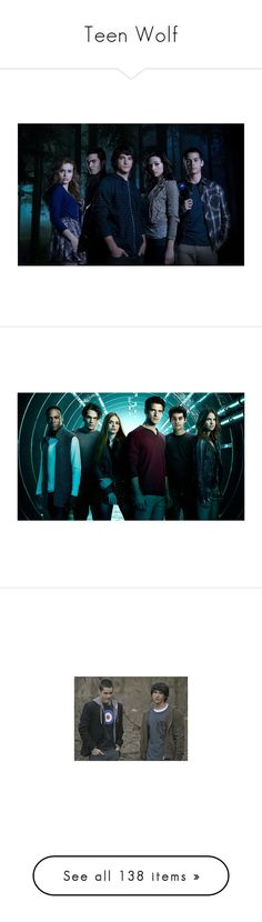 """""""Teen Wolf"""" by starlightpa ❤ liked on Polyvore featuring teen wolf, other, people, dylan o'brien, backgrounds, scott, stiles, people - holland roden, tv - teen wolf and photos"""