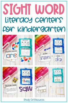 Kindergarten Activities, Learning Activities, Teaching Resources, Literacy Stations, Literacy Centers, Teaching Sight Words, High Frequency Words, Small Groups, Phonics