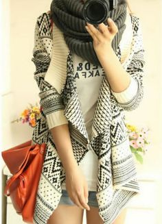 Women Casual Irregular Oversized Loose Geometric Cardigan Sweater New Choices | eBay