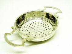 Solid Silver Tea Strainer Sterling English Tea by DartSilverLtd
