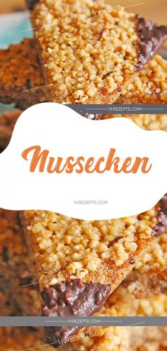 Nussecken - 1k Rezepte Easy Cake Recipes, Vegetables, Food, Muffins, Cooking Recipes, Food And Drinks, Food Food, Muffin, Eten