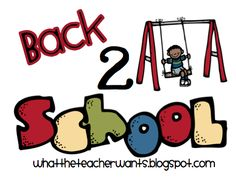 What the Teacher Wants!: Back 2 School Ideas {Part 1}