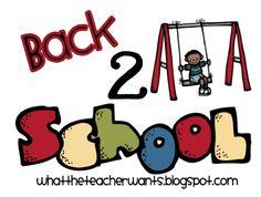 What the Teacher Wants!: Back 2 School Ideas {Part 1}