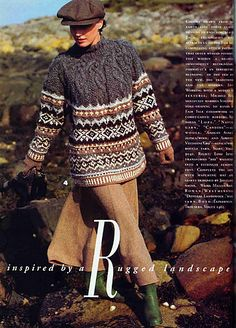 Ravelry: Oversized Cable Patterned Yoke Pullover pattern by Michele Rose Orne Fair Isle Knitting Patterns, Knitting Designs, Knitted Jackets Women, Norwegian Knitting, Boucle Yarn, Pullover Designs, Vogue Knitting, Knit Jacket, Girls Sweaters