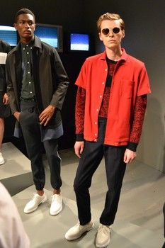 Men's New York Fashion Week: Timo Weiland Spring/Summer 2016. Styled with Dr. Martens White Mono 1461 Shoes.