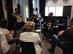En ce moment au Conservatoire De Roubaix  @Redha Benabdallah et Maher Beauroy en pleine master class autour du oud et du piano  Rendez-vous ce vendredi 20 mai pour le concert INSULA (fusion Maghreb/Caraïbes)