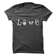 love hand and footprints - #teacher shirt #wet tshirt. CHECK PRICE => https://www.sunfrog.com/Funny/love-hand-and-footprints.html?68278