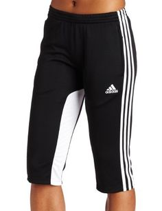 adidas Women's Tiro 11 Three-Quarter Pant (Black, White, Small) adidas. $37.99