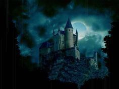 castillos medievales de noche
