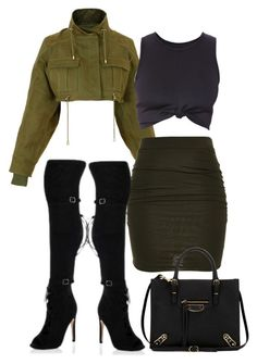 """""""Untitled #449"""" by jazz-mae on Polyvore featuring Balmain and Balenciaga"""