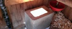 Automatic Chicken Coop Heater consists of small concrete block, mounted via adhesive to a treated with a single light socket installed with halogen bulb and capped with a concrete cap. Portable Chicken Coop, Backyard Chicken Coops, Chicken Coop Plans, Building A Chicken Coop, Diy Chicken Coop, Chickens Backyard, Chicken Ideas, Chicken Coup, Chicken Runs