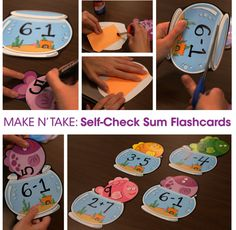 Give math a little character by using cut-outs to create self-check flash cards!
