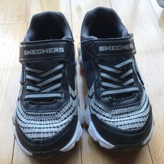 sports shoes c4ad3 eefd7 Skechers Shoes   Skechers Toddler Boy S-Lights Sneakers   Color  Black Gray
