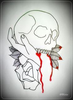 Vampire Skull Tattoo Idea