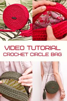 Crochet pattern bag by IlovecreateStore. Video tutorial Circle bag PDF pattern Crochet handbag Tshirt yarn Crochet bag pattern Gift for knitters. Bali boho bag PDF pattern with complete and detailed video-description of the whole circle handbag creating process. The pattern for creating a bag is not difficult and is detailed in the video.