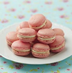 Macarons have a delicate texture which works well with many flavours.We went for strawberry macarons...and you?
