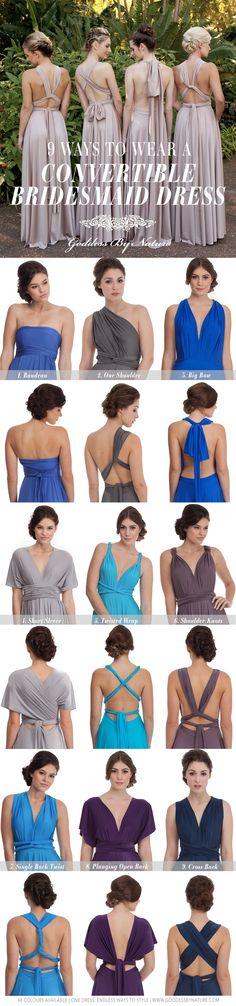 9 Ways To Wear A Multiway Bridesmaid Dress! 48 Colours Available   Shop Online www.shop.goddessbynature.com