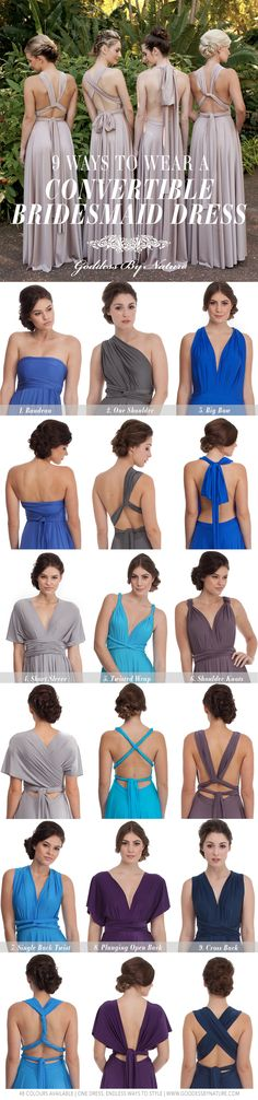 9 Ways To Wear A Multiway Bridesmaid Dress! 48 Colours Available | Shop Online www.shop.goddessbynature.com