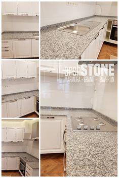 Blat pentru baie sau bucatarie din Granit Misty Brown Misty Brown, Kitchen Island, Home Decor, Travertine, Granite, Island Kitchen, Decoration Home, Room Decor, Interior Design