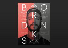 RedBull Music Academy Paris poster, design by Studio Jimbo, 2015.