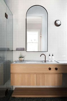 Chasing the dream – the modern extension (Desire To Inspire) Eclectic Bathroom, Bathroom Interior Design, Decor Interior Design, Interior Decorating, Bathroom Flooring, Bathroom Cabinets, Bathroom Design Inspiration, Interior Inspiration, Beautiful Bathrooms