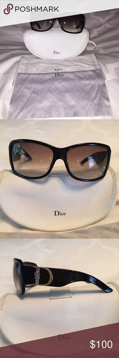 2762cd5aaf3c Authentic Christian Dior Black Sunglasses Used. Comes with Dior case. Dior  Accessories Sunglasses