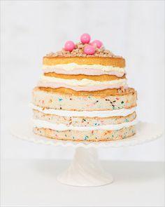naked funfetti cake!