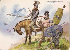 Angus McBride - Guerreros Galos de La Tène - Siglos III-II AC.La Tene period 2nd-3rd C.BC
