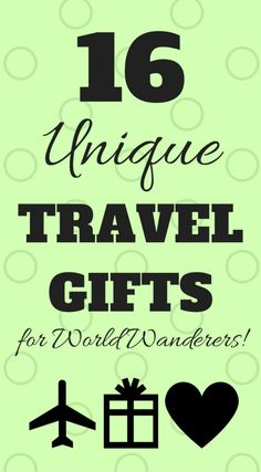 We have rounded up a list of unique travel gifts sure to inspire love of travel and bring a smile to the adventurer who opens them! Travel Info, Travel Advice, Budget Travel, Travel Ideas, Travel Articles, Travel Stuff, Travel Packing, Travel Necessities, Travel Essentials