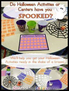 Do Halloween Activity Centers have you spooked?  We can help you get ready in the shake of a broom!