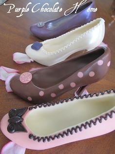 Chocolate shoes l Purple Chocolat Home: Mother's High Heels Done in Chocolate l pinned by http://www.cupkes.com/