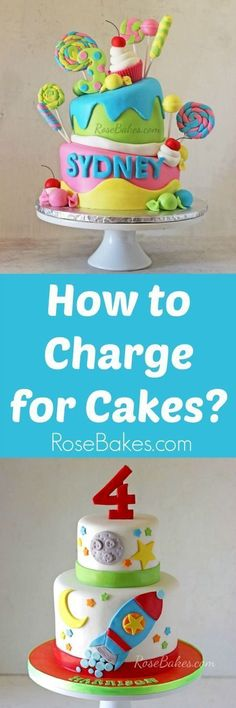 How to Charge for Cakes - Cake decorating tutorials - Gateau Cake Decorating Techniques, Cake Decorating Tutorials, Cookie Decorating, Decorating Cakes, Baking Business, Cake Business, Rodjendanske Torte, Cake Pricing, Cake Tutorial