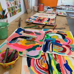 School Art Projects, Art Club Projects, Arte Elemental, My Art Studio, Collaborative Art, Middle School Art, Art Lessons Elementary, Process Art, Art Classroom