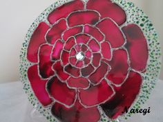 """Rosa das rosas ..."" (Naregi Mandalas Vitrais)"
