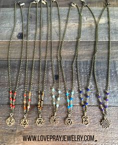 New chakra necklaces in our What's New collection! One for each #chakra
