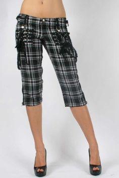 Plaid Punk Capri Pants
