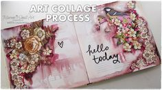 Art Collage Journal Page Process ♡ Maremi's Small Art ♡ - YouTube