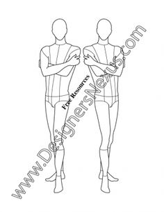 017- male fashion croqui template three-quarter pose - FREE download and more male croquis in Illustrator & .png at designersnexus.com!