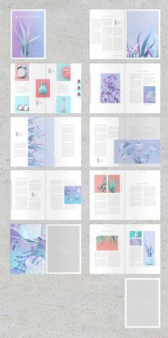 Magazine Design Inspiration, Magazine Layout Design, Brochure Design Inspiration, Magazine Layouts, Graphic Design Books, Graphic Design Layouts, Book Design Layout, Editorial Design Layouts, Indesign Magazine Templates