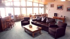 The lounge area of our Zeballos BC fishing lodge. West Coast Fishing, Halibut Fishing, Vancouver Island, Lounge Areas, British Columbia, Deli, Luxury, Living Rooms