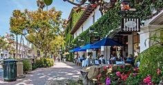 Rua State Street em Santa Bárbara #viagem #california
