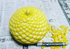 New Elaborate Patterns and Designs Carved on Produce by 'Gaku'