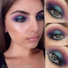 This recreation of Beyonce makeup by heidimakeupartist is everything....Violet and blue.....OMG !!!