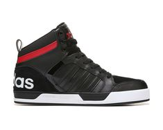 a5be7a1fe07 adidas Neo Raleigh 9TIS High Top Sneaker Black Red White Adidas Neo