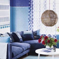 blaue-farbtöne-blaue-wohnzimmer   Home Decoration   Pinterest ...