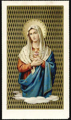 "santino-holy card""""ediz. FB serie RAVENNA n.2 S.CUORE DI MARIA"